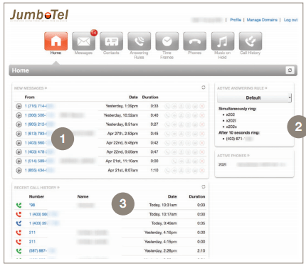 Easy to Use JumboTel Portal for Users