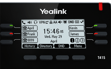 Yealink T41S Easy to Read Screen